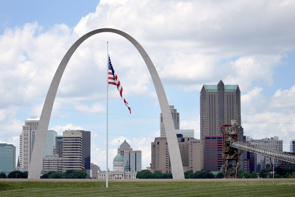 St. Louis Skyline from Malcolm Martin Memorial Park. by lsquared