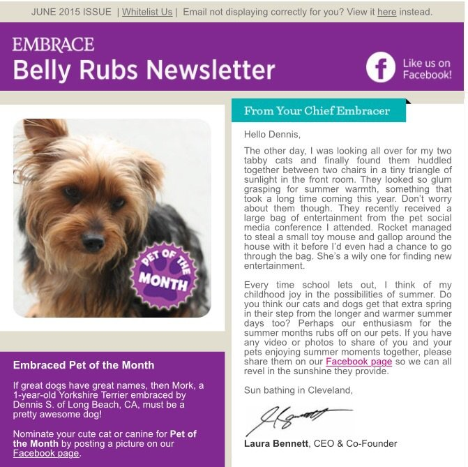 Embraced Pet of the Month  by kerristephens