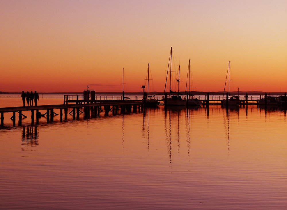 Sunset at the Jetty by onewing