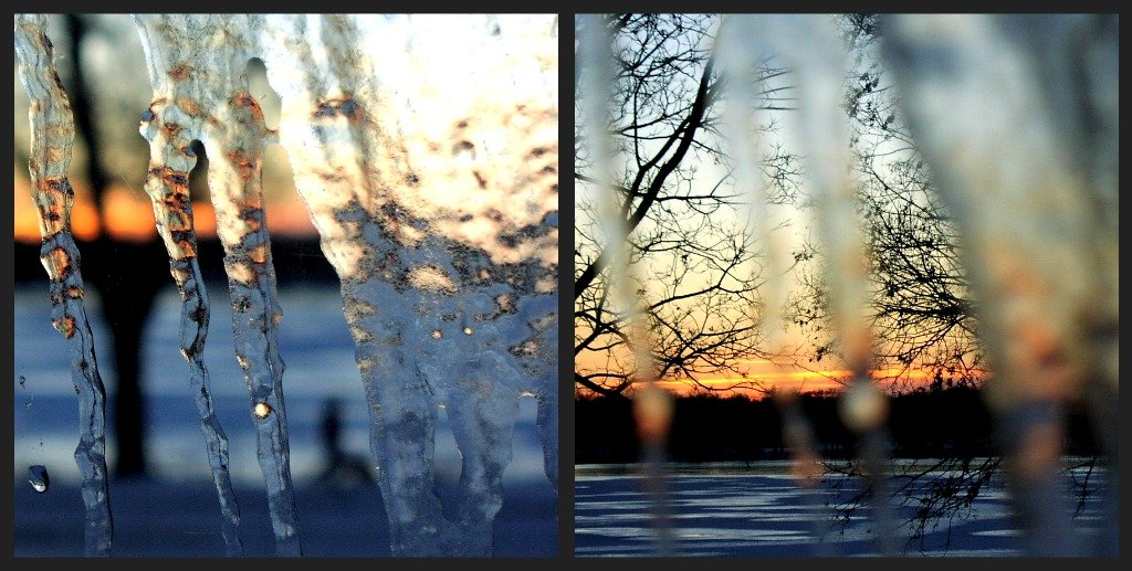 icy sunset by pfmandeville