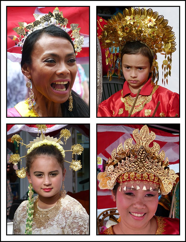 Indonesian Headdresses by onewing