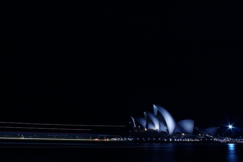 opera house by night by pocketmouse
