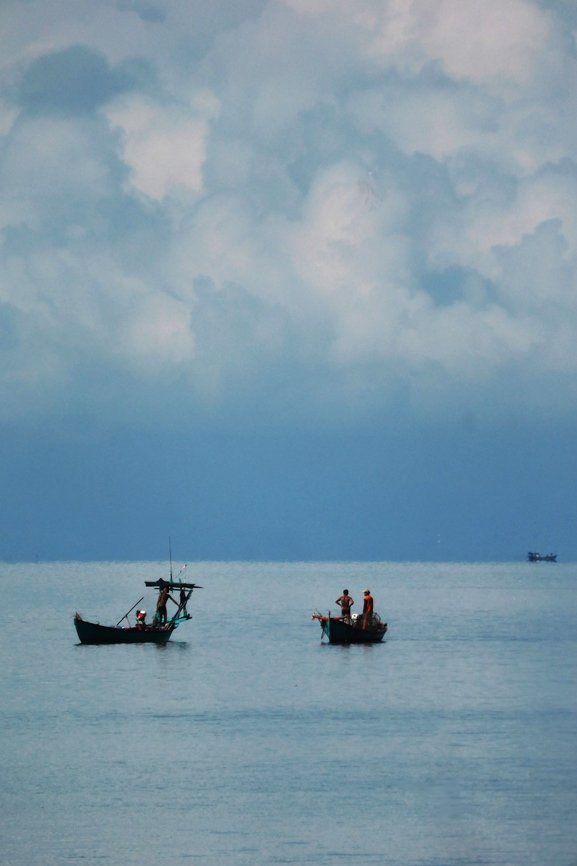 Cambodia: Gazing out to sea from Rabbit Island  by helenhall