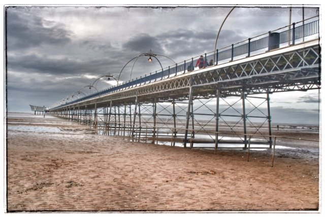 The pier at Southport by lyndamcg