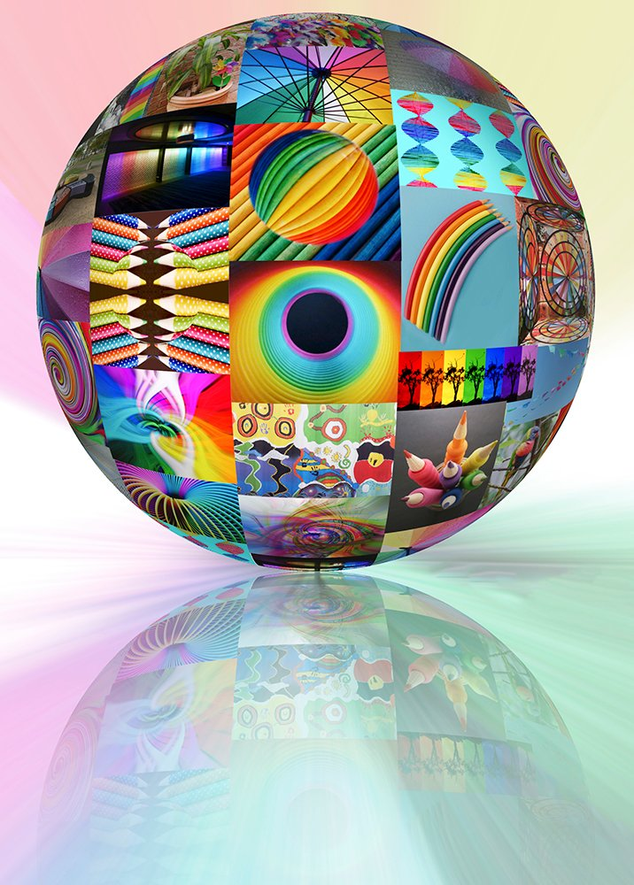 Rainbow 3D Orb by onewing