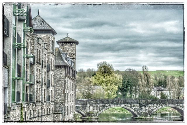 Stramongate Bridge, Kendal - taken from the car going over one of the other five road bridges that pass over the River Kent. by lyndamcg