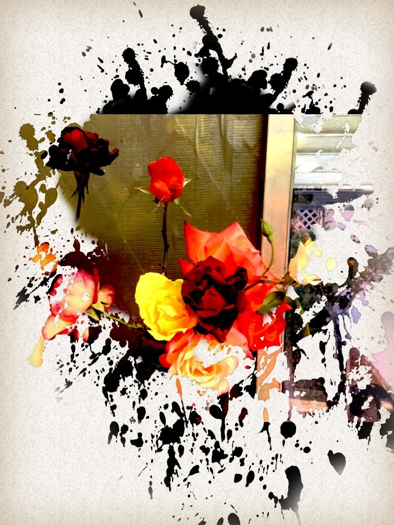 ETSOOI-86 Flowers Explosion Abstract by kathyboyles