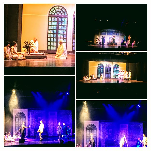 COLLAGE of a play on Gandhi by veengupta