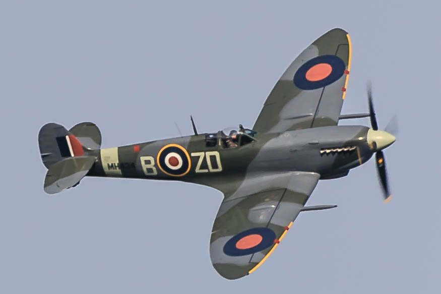 Spitfire, Duxford by padlock