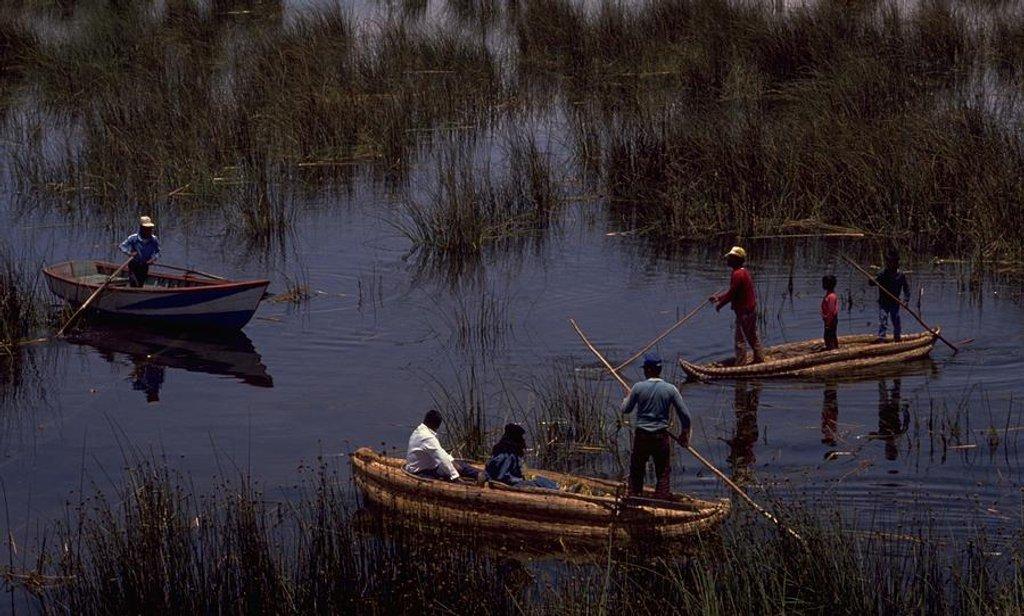 09 Lake Titicaca Reed Boats, Peru by travel