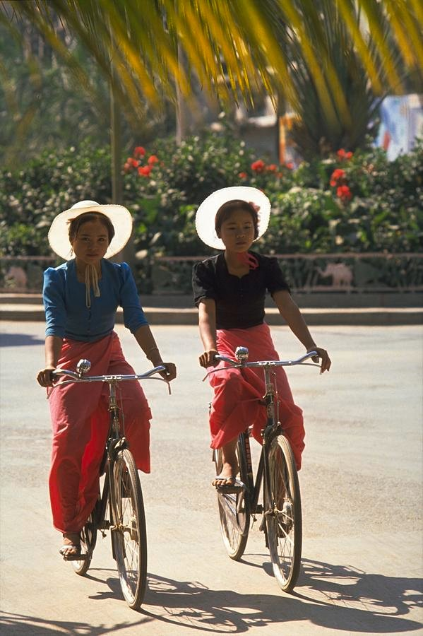 35 Dai Girl Cyclists in Xishuangbanna, China by travel