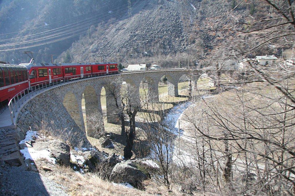 47 Bernina Express in Winter by travel