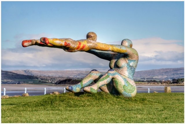 The Venus and Cupid statue at Morecambe by lyndamcg
