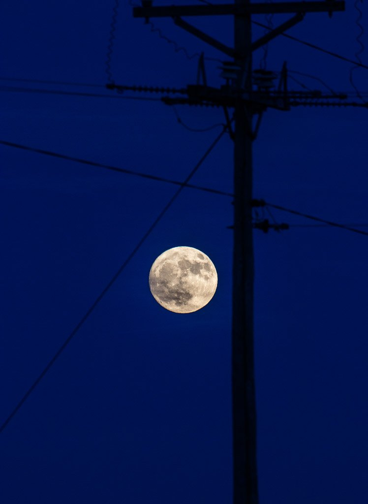 almost super moon by aecasey