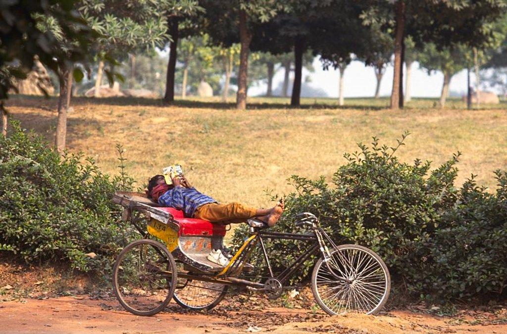 88 Rickshaw Rider Relaxing by travel