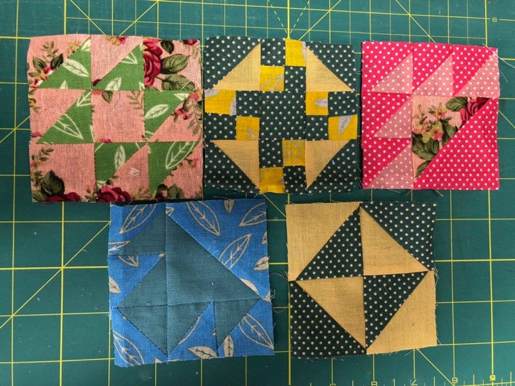 More patchwork blocks by bizziebeeme