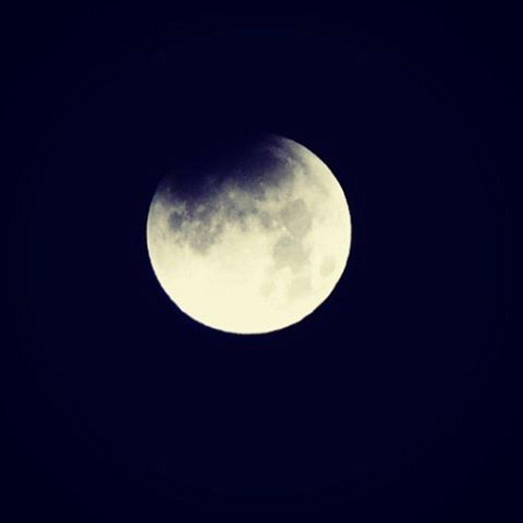 The Super Blue Blood Moon eclipse begins..... by louannwarren