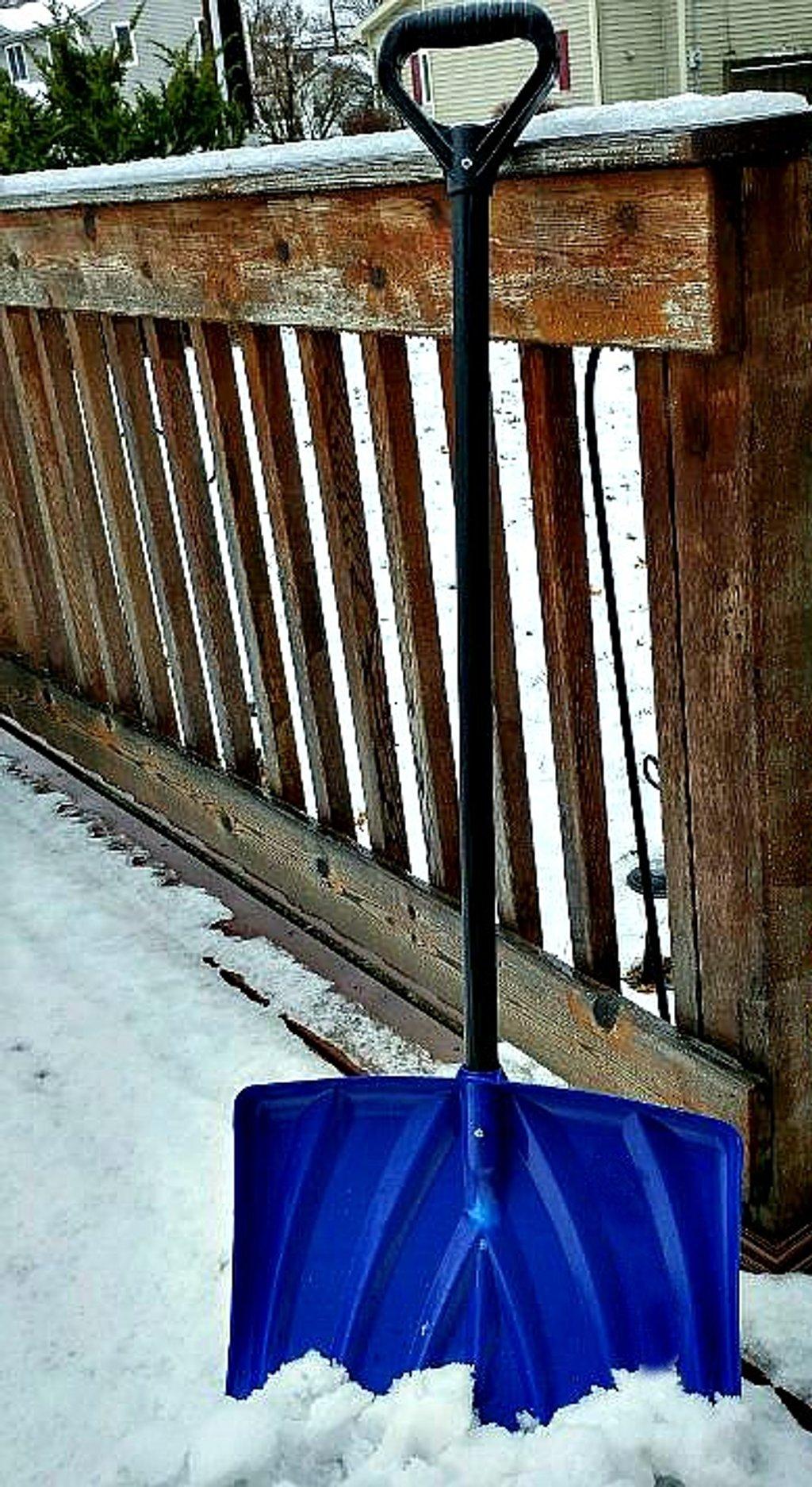 Blue Snow Shovel  by jo38