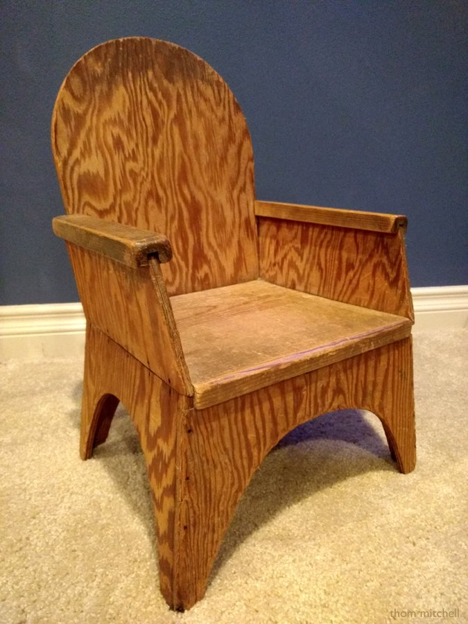 Child's chair, ca 1950s? by rhoing