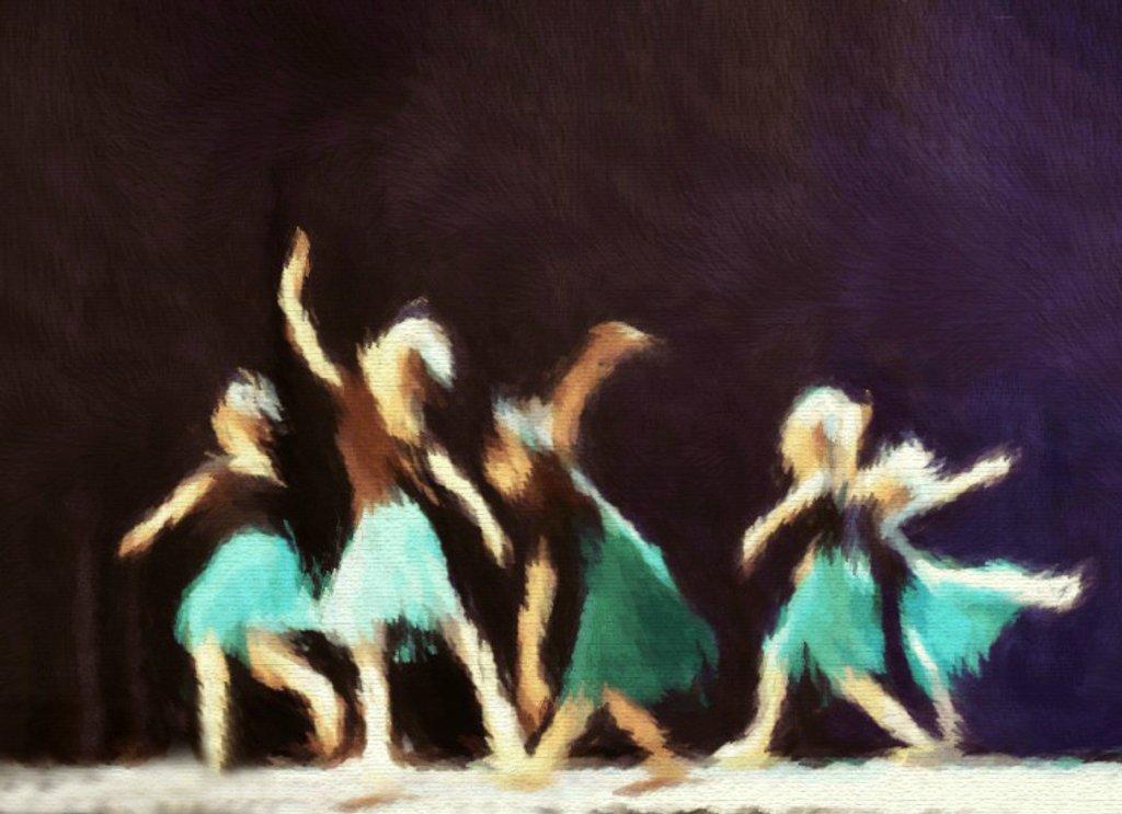 Degas Blue Ballarinas by alophoto