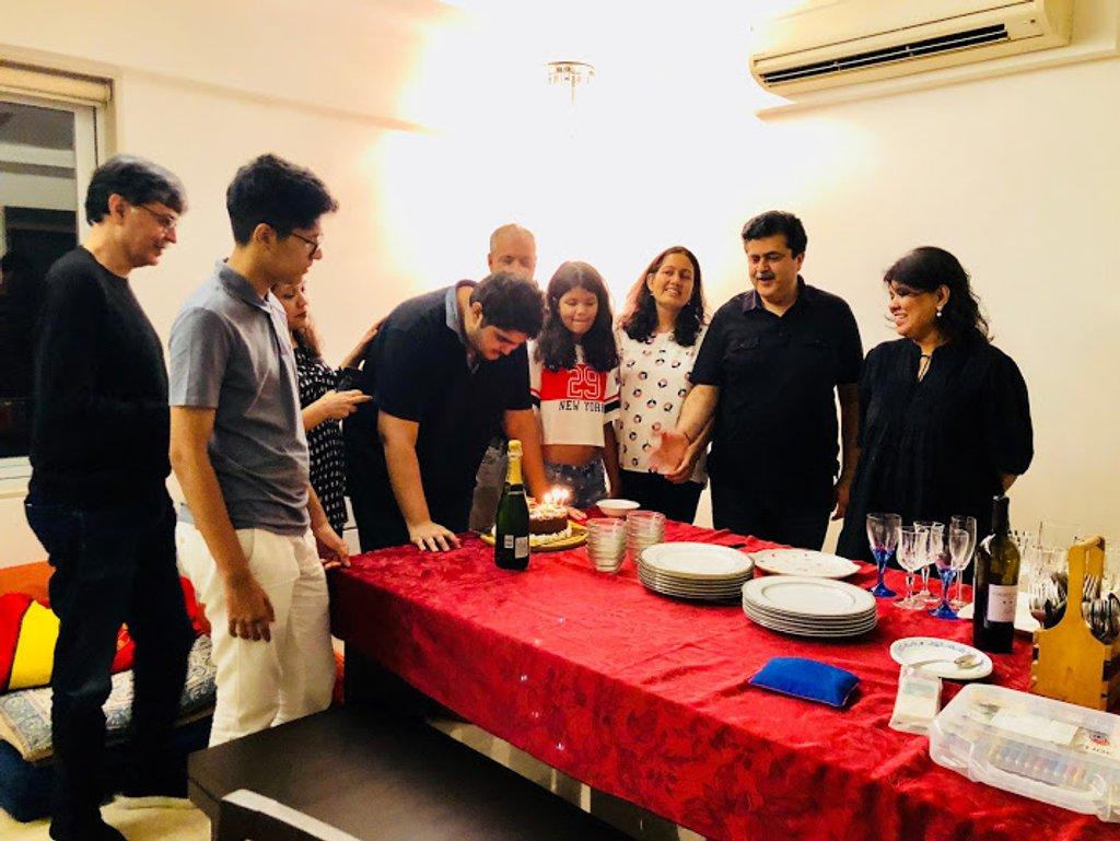 Aditya's 21 st birthday celebrations by veengupta