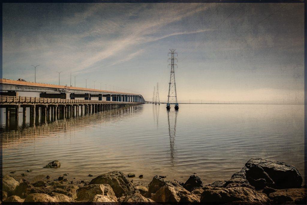 San Mateo Bridge by mikegifford