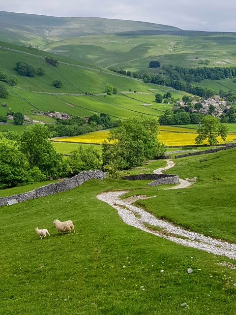 A view of kettlewell as we descend the hill! by lyndamcg