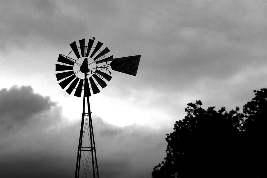 Old Windmill, Cloudy Day by lsquared