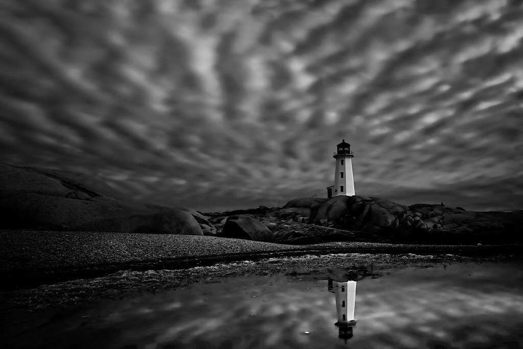 """2018-06-25 """"let's get lost"""" - iconic lighthouse reflected  in Nova's puddle by mona65"""
