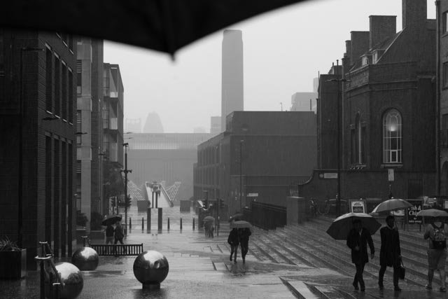 View of Tate Modern in rain by helenm2016