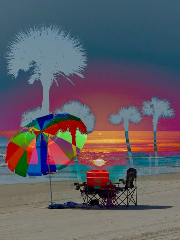 Rainbow and sunrise by joemuli