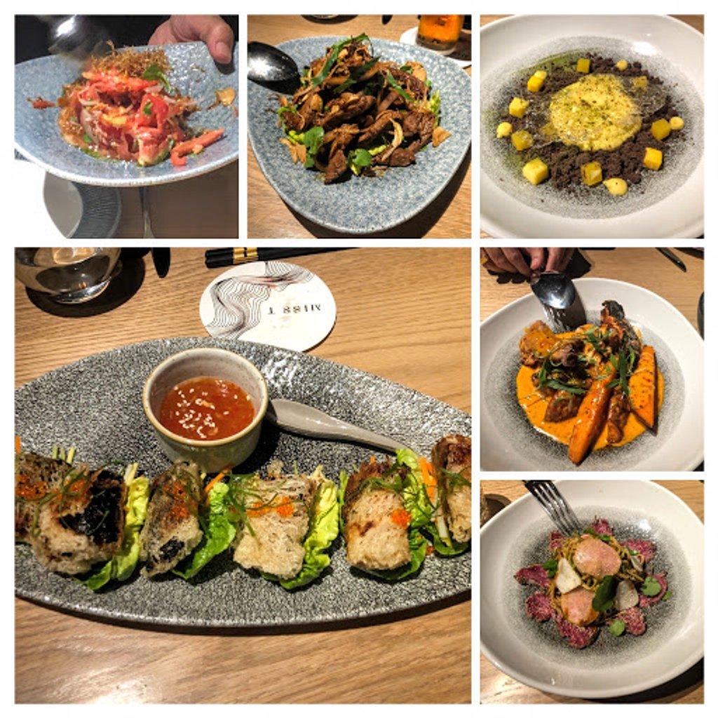 Burmese and Vietnamese food  by veengupta