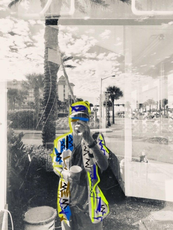 Selfie reflections on a dirty window  by joemuli