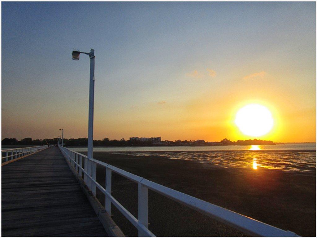 historic pier in Urangan, Hervey Bay by kerenmcsweeney