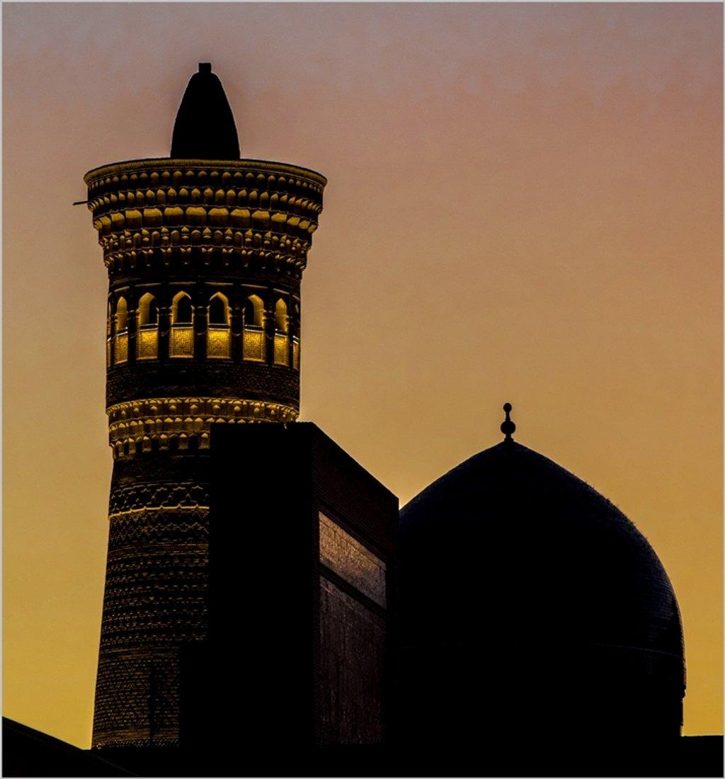 006 - Kalyan Minaret and dome of the Miri-Arab Madrasha by bob65