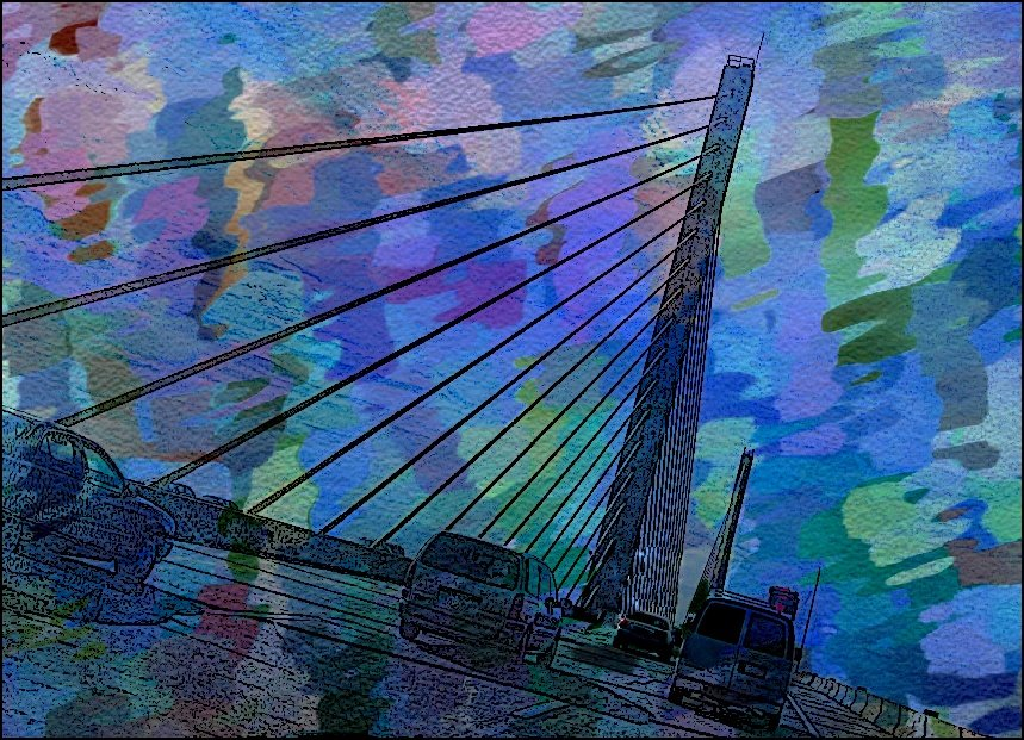 Modern Art Bridge by olivetreeann