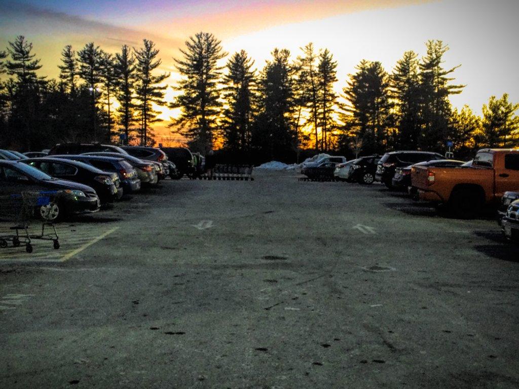 Parking Lot Sunset by joansmor