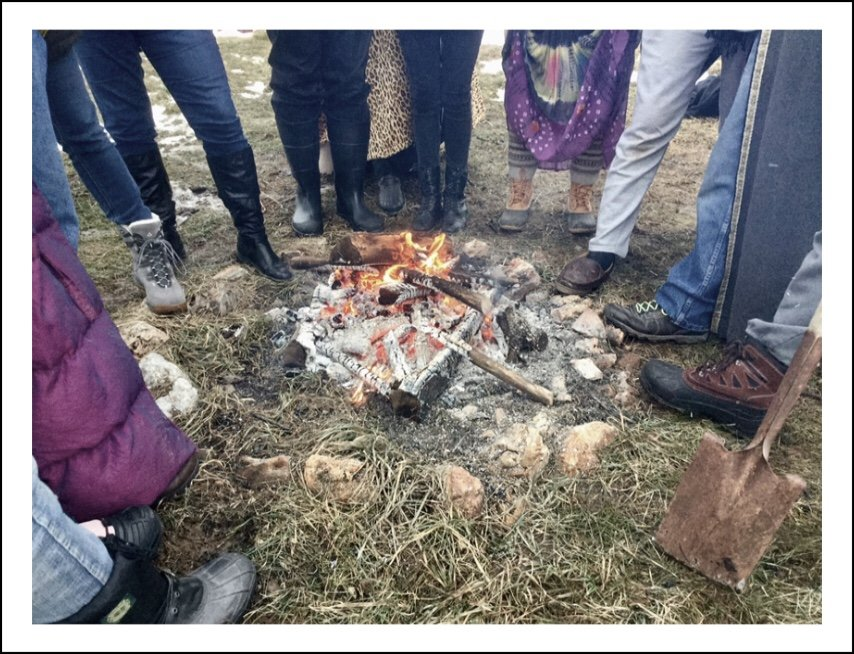 Gathered for Imbolc at SweetWood  by mcsiegle