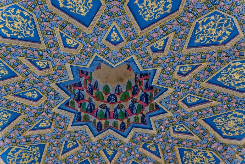 034 - Ceiling at the Baha Ad-Din Naqshband Necroplis by bob65