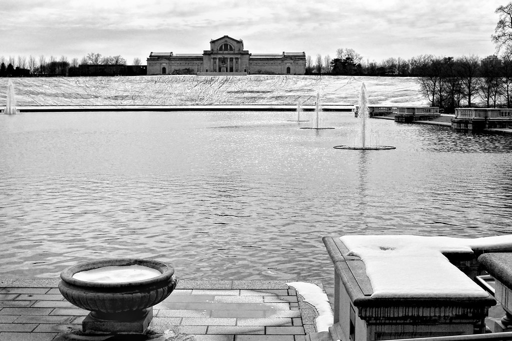 St. Louis Art Museum across the Grand Basin by lsquared
