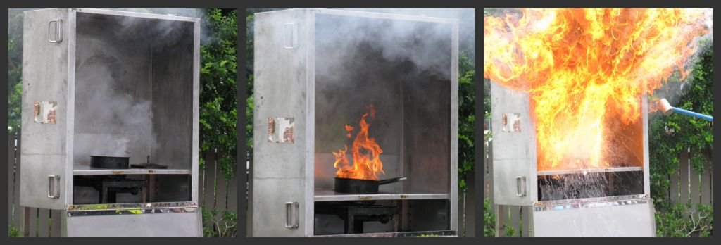 Fire Brigade Demonstration - fat fire in your kitchen by loey5150