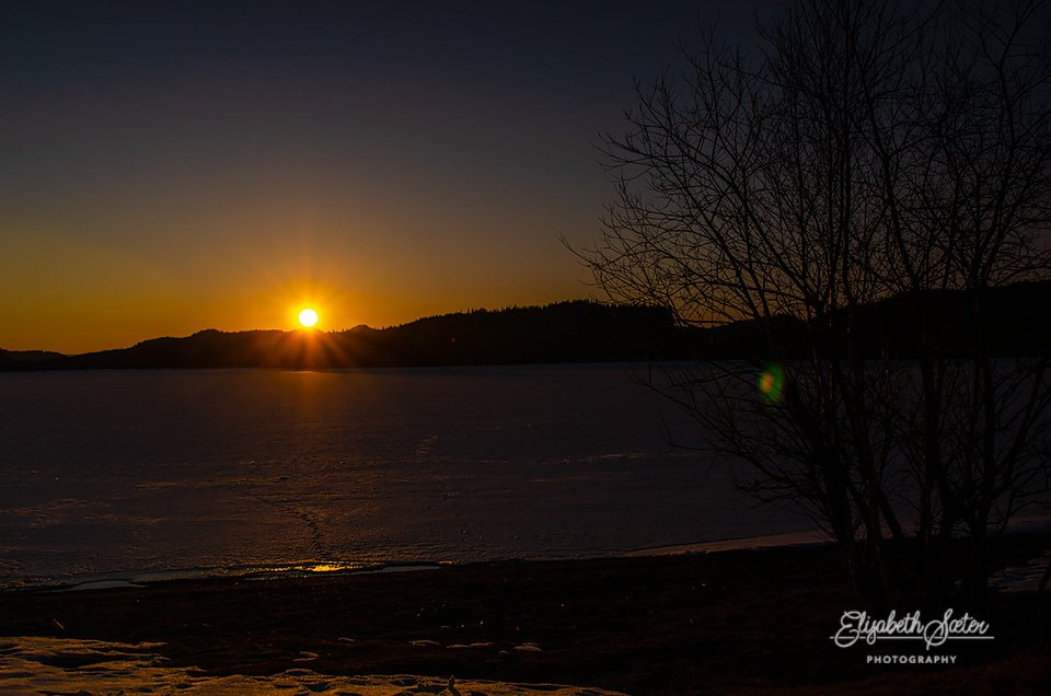 Sunset on Svorksjøen by elisasaeter