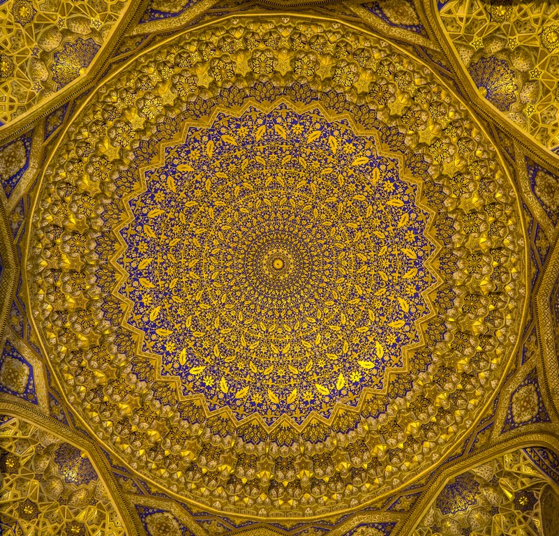 086 - Ceiling of the  Tillya -Kari Madrasah by bob65