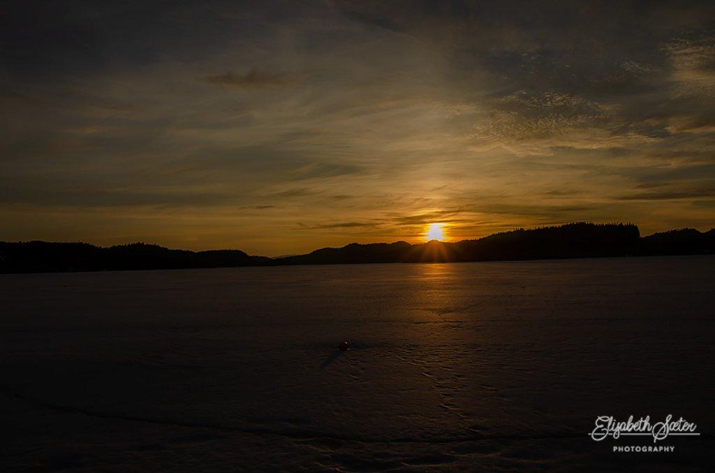 Sunset on Svorksjøen by elisasaeter