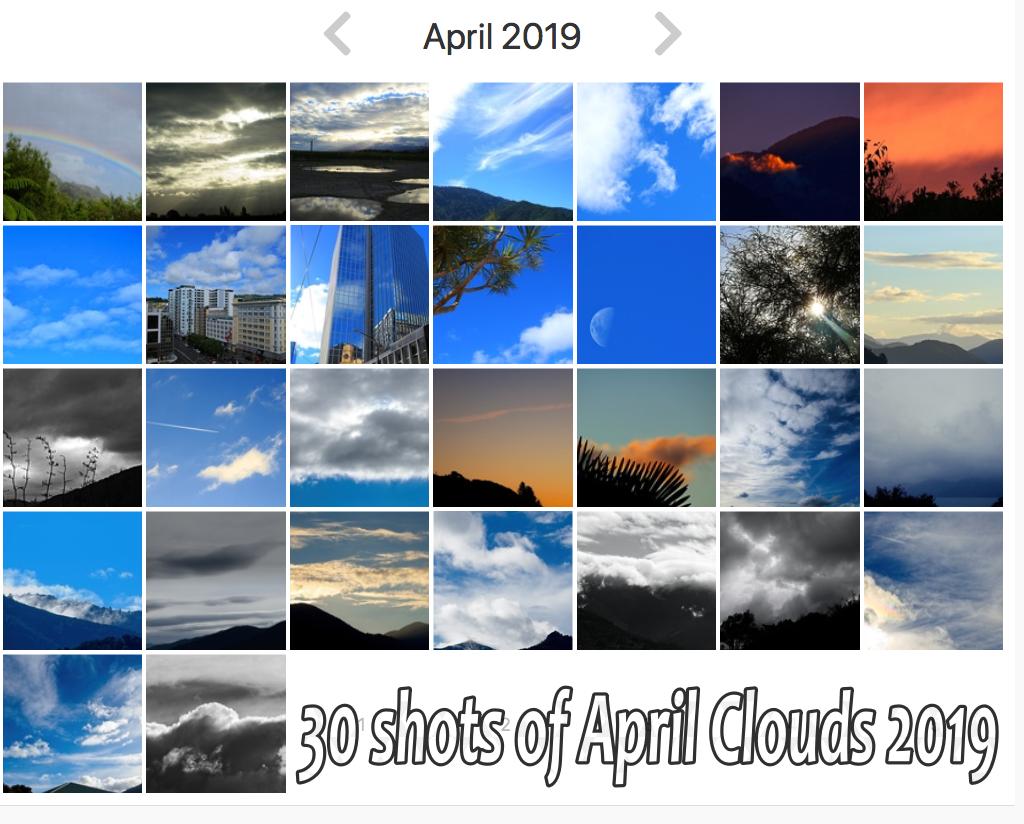 30 shots April Clouds 2019 by kiwinanna