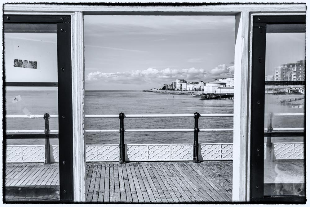 Half and Half - Worthing pier by pamknowler