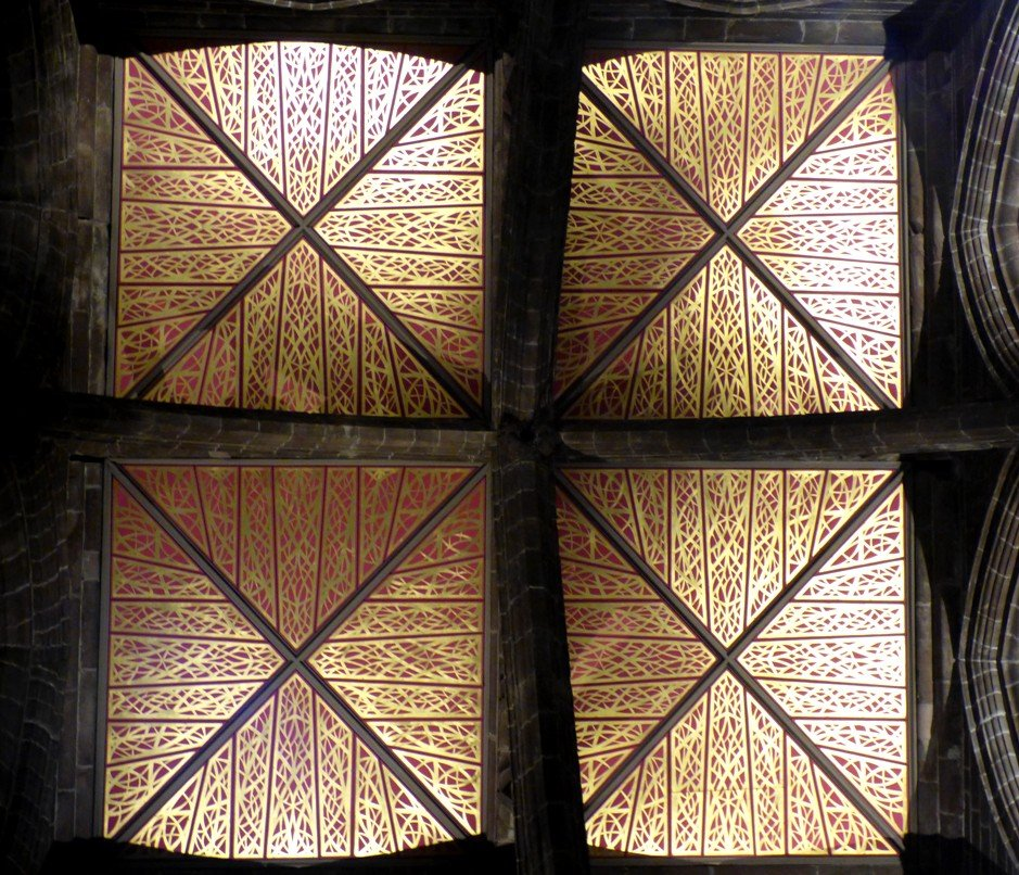 Chester - Cathedral Tower Ceiling by fishers