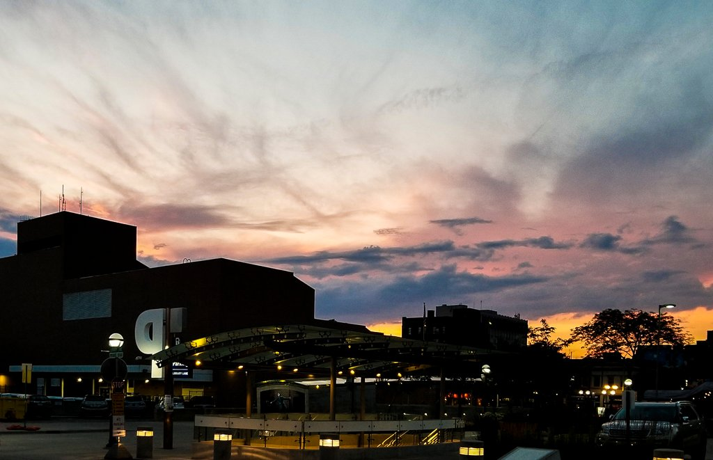 Summer Sunset over the Car Park Entrance by houser934