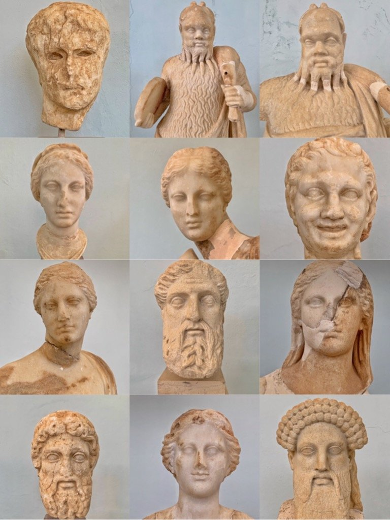 Ancient Greek heads.  by cocobella