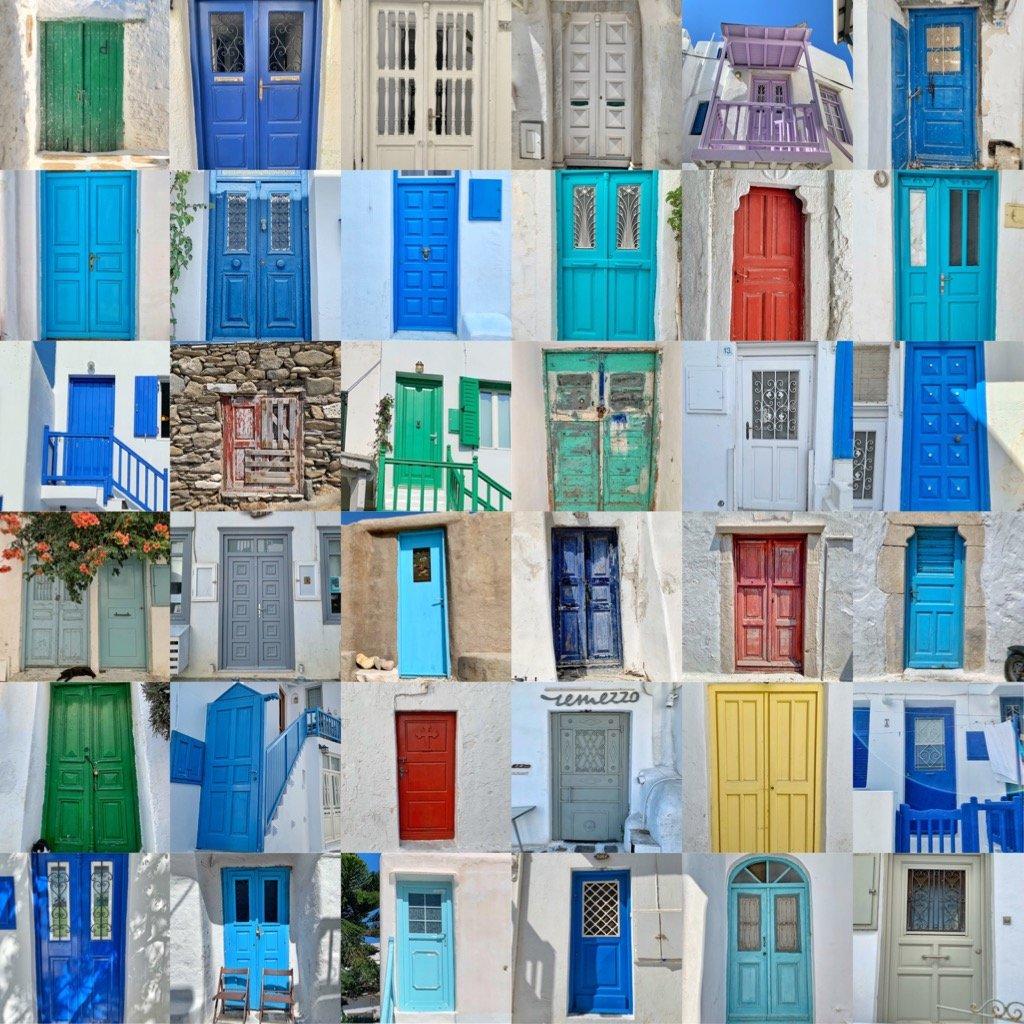 Doors of Mykonos.  by cocobella